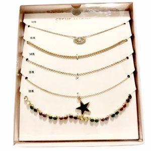 Steve Madden 5 PC Set Necklace Gift Set